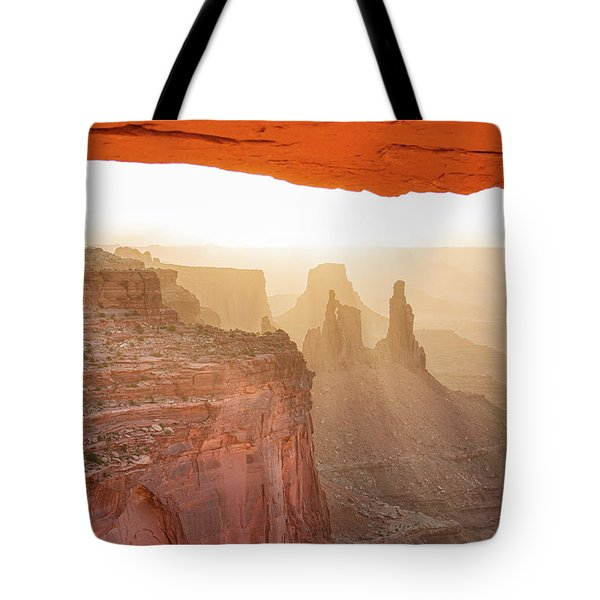 Sunrise At Mesa Arch Tote Bag