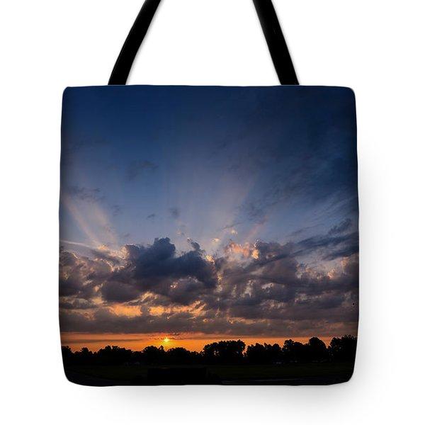 Sunrise At The Abbott Aviation Center Tote Bag