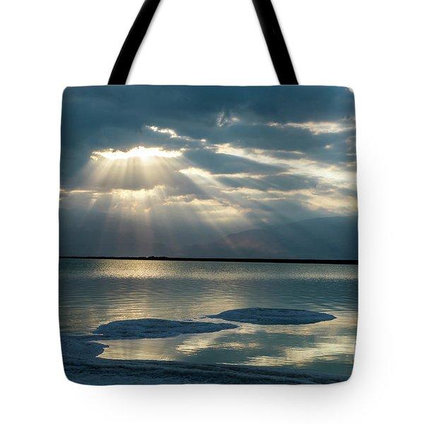 Sunrise At The Dead Sea Tote Bag