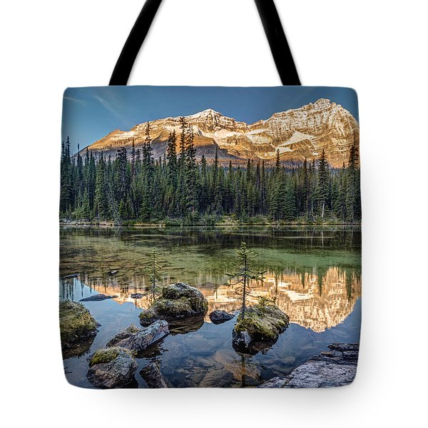 Sunrise In The Rocky Mountains Tote Bag by Pierre Leclerc Photography