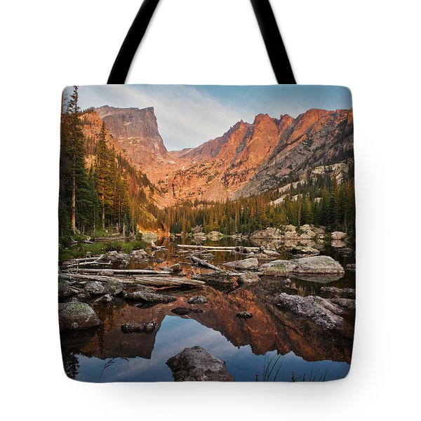 Dream Lake Sunrise Tote Bag