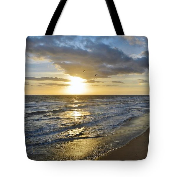 Sunrise On The Banks  Tote Bag