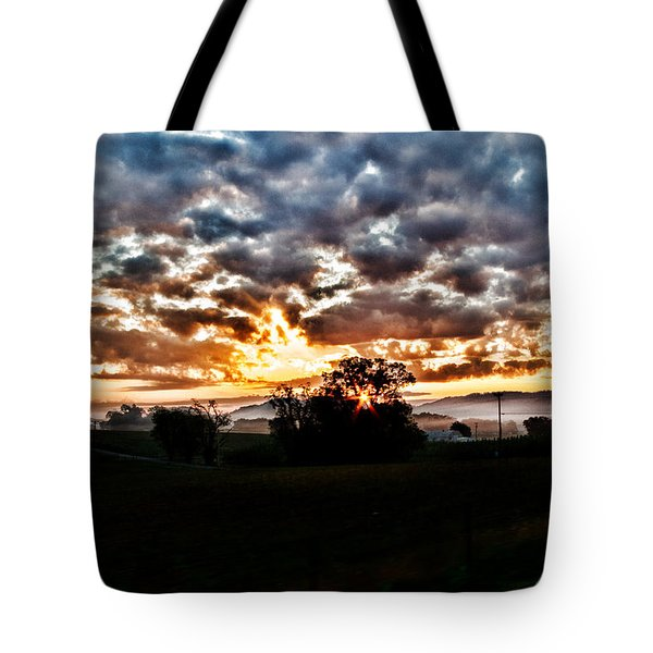 Sunrise Over Fields Tote Bag