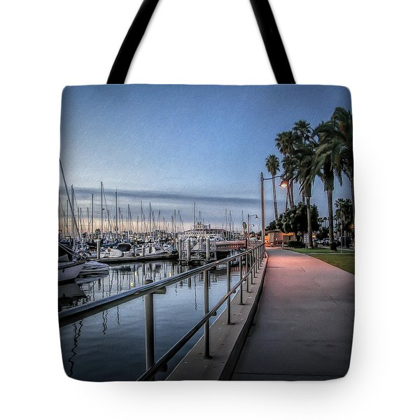 Sunrise Over Santa Barbara Marina Tote Bag