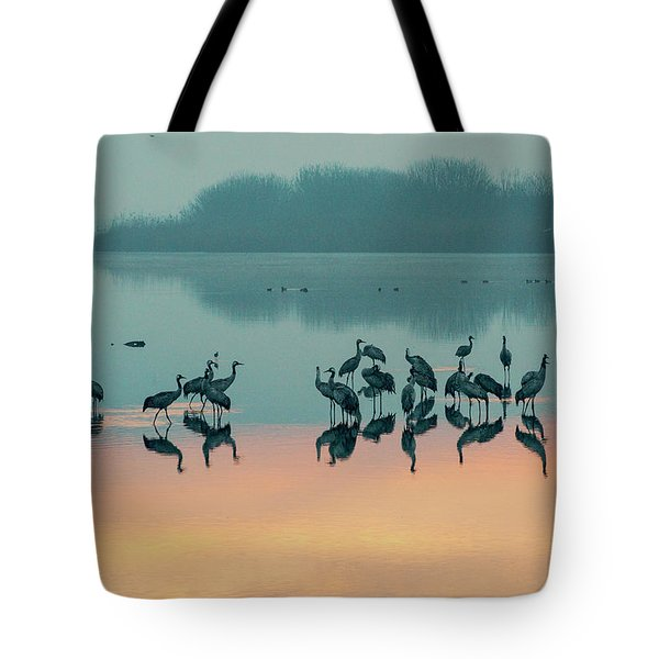 Sunrise Over The Hula Valley Tote Bag