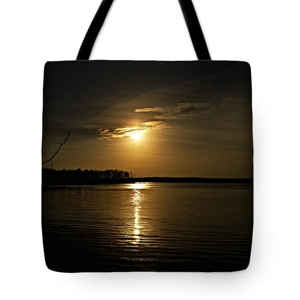 Tote Bag featuring the photograph Sunset by Angel Cher