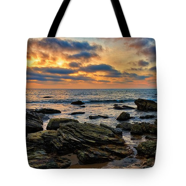 Sunset At Crystal Cove Tote Bag