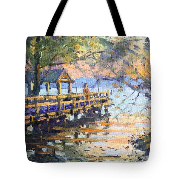 Sunset At Fishermans Park Tote Bag