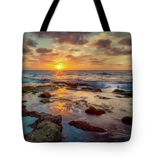 Tote Bag featuring the photograph Sunset At La Jolla  by Rikk Flohr