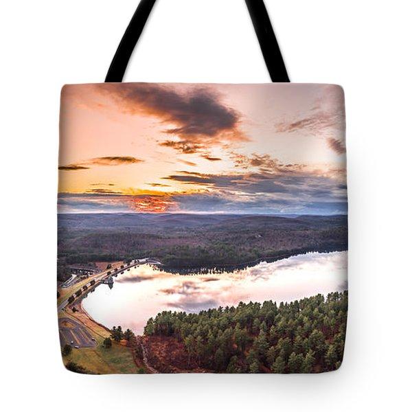 Sunset At Saville Dam - Barkhamsted Reservoir Connecticut Tote Bag
