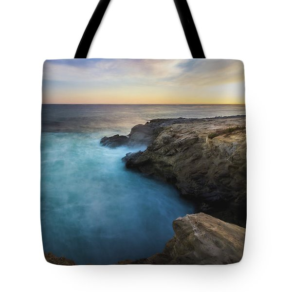 Tote Bag featuring the photograph Sunset At Sequit Point by Andy Konieczny