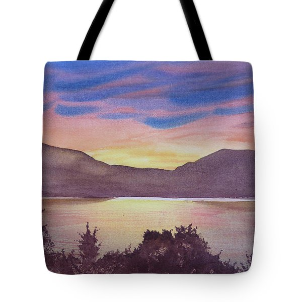 Sunset At Woodhead Campground Tote Bag