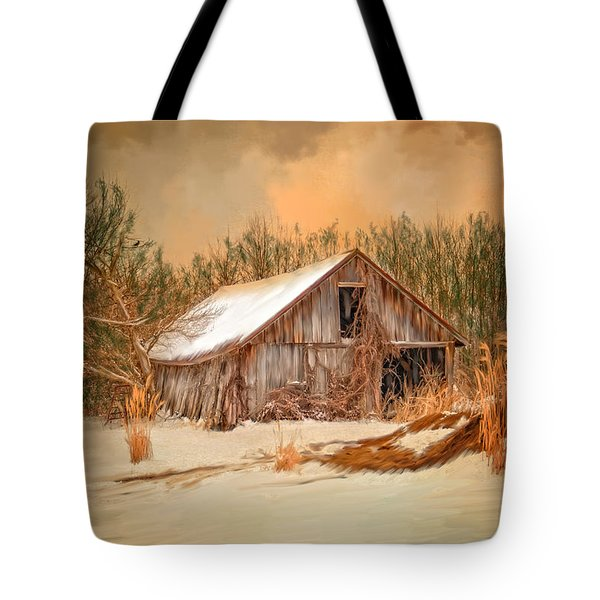 Sunset Barn Tote Bag by Mary Timman