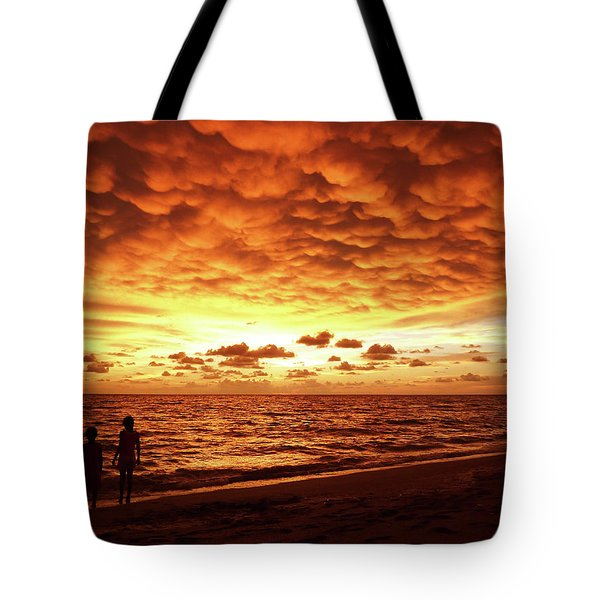 Tote Bag featuring the photograph Sunset Before The Storm by Melanie Moraga