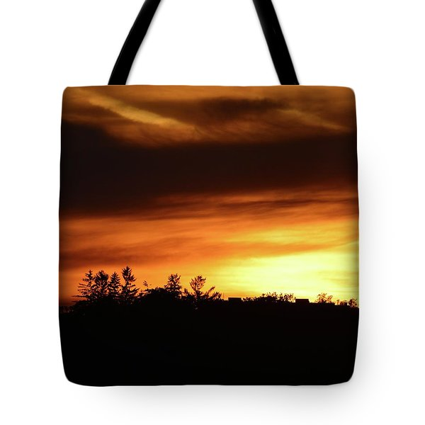 Sunset Behind The Clouds  Tote Bag