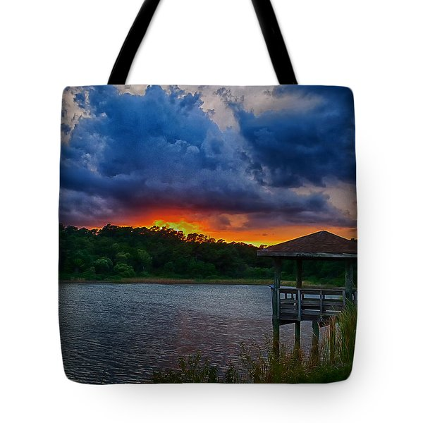 Tote Bag featuring the photograph Sunset Huntington Beach State Park by Bill Barber