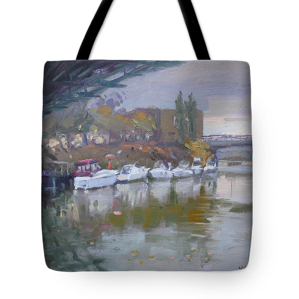 Sunset In A Rainy Day Tote Bag