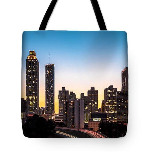 Sunset In Atlanta  Tote Bag