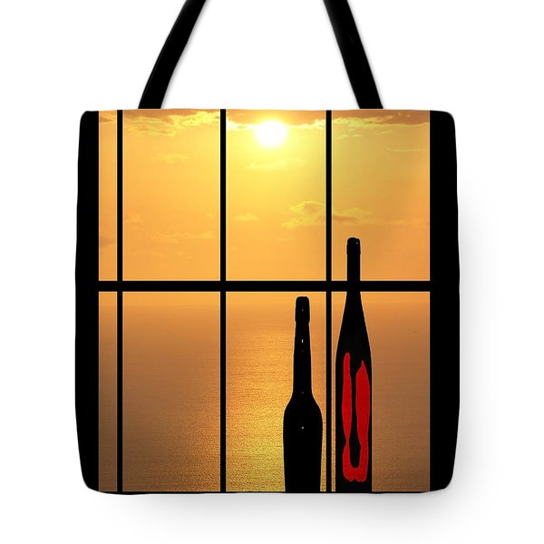 Tote Bag featuring the photograph Sunset In Hawaii by Athala Carole Bruckner