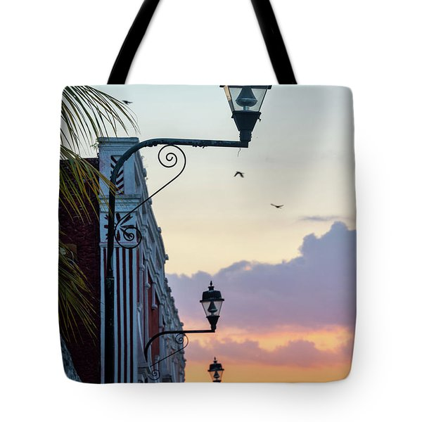 Sunset In Valladolid, Mexico Tote Bag