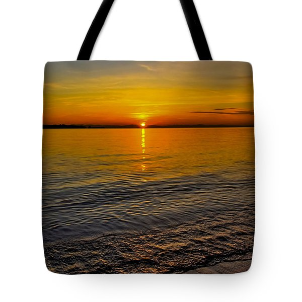 Tote Bag featuring the photograph Sunset by Kathy King
