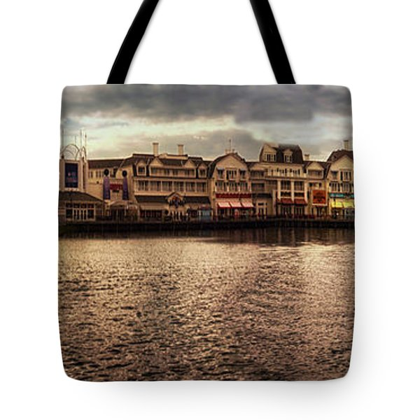 Sunset On The Boardwalk Walt Disney World Mp Tote Bag by Thomas Woolworth