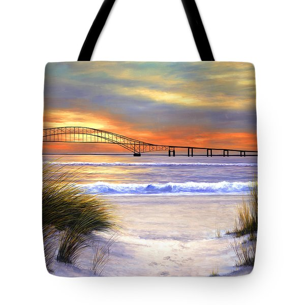 Sunset Over Robert Moses Tote Bag