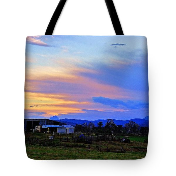 Sunset Over The Great Divide Tote Bag