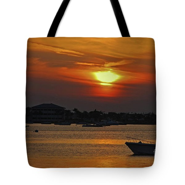 Tote Bag featuring the photograph 1- Sunset Over The Intracoastal by Joseph Keane