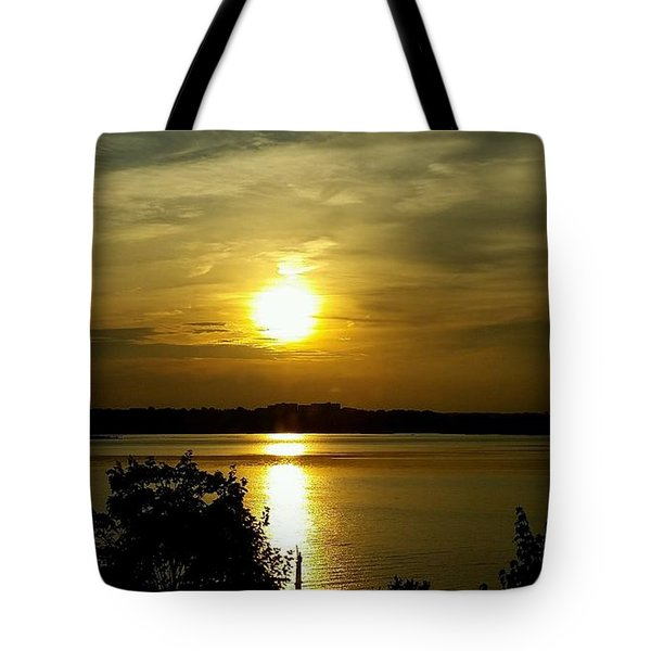 Sunset Over The Potomac Tote Bag