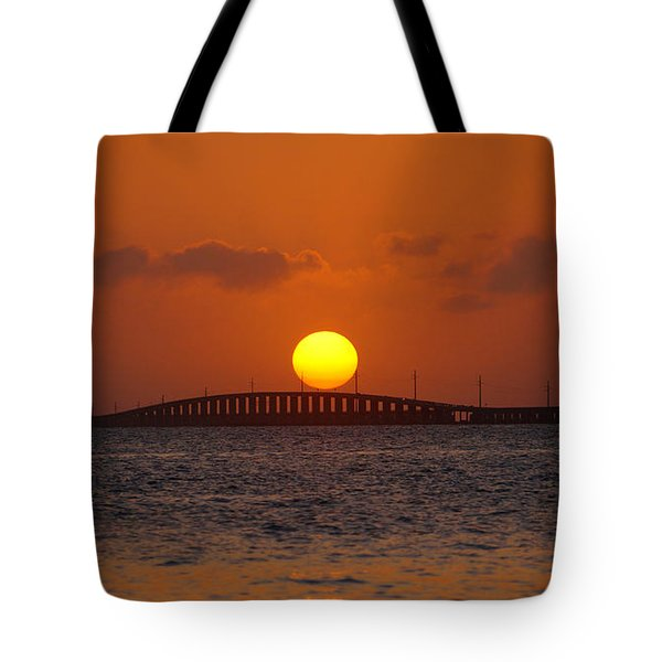 Sunset Seven Mile Bridge Tote Bag