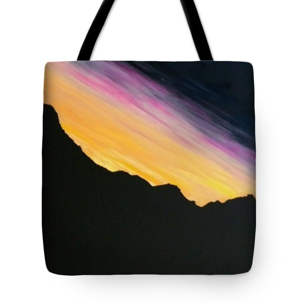 Tote Bag featuring the painting Sunset Silhouette by Kevin Daly