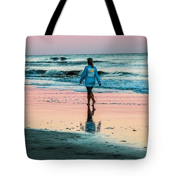 Sunset Stroll In The Surf Hilton Head Tote Bag