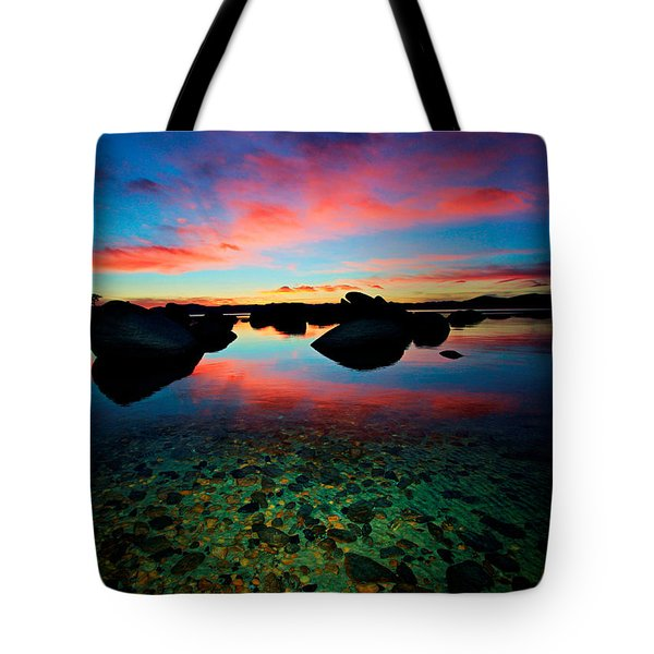 Sunset With A Whale Tote Bag by Sean Sarsfield