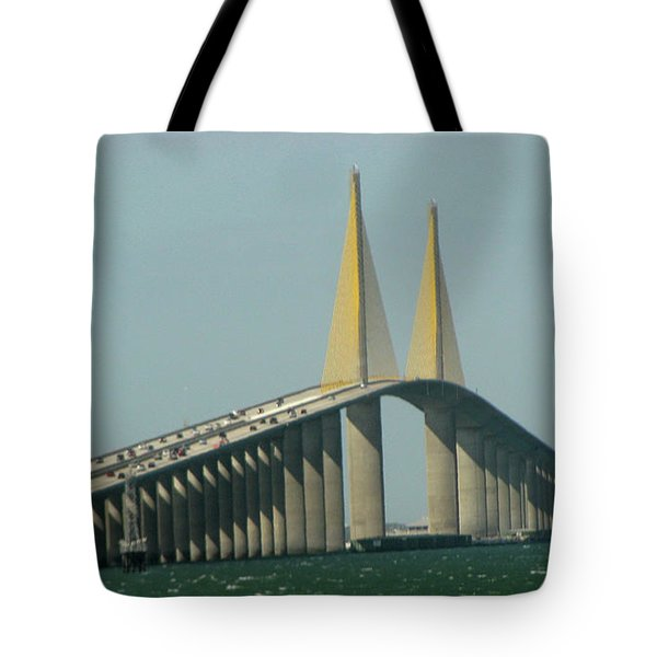 Sunshine Skyway Bridge Tote Bag