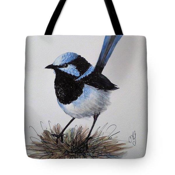 Superb Blue Wren Tote Bag