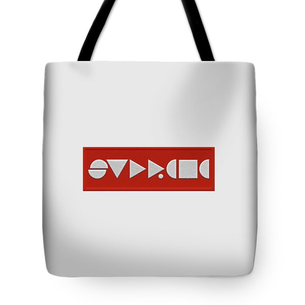Supreme Being Embroidered Abstract - 1 Of 5 Tote Bag by Serge Averbukh