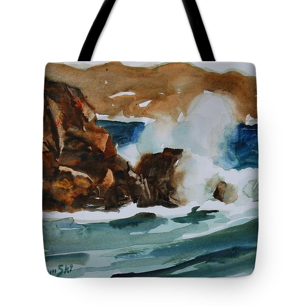 Surf Study Tote Bag by Len Stomski