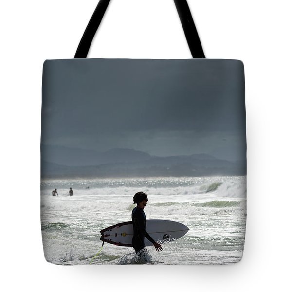 Surfing At  Tote Bag