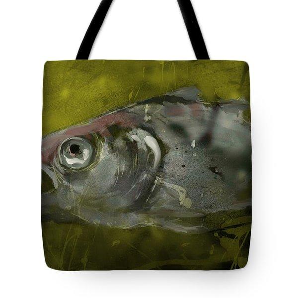 Tote Bag featuring the digital art Survivor by Jim Vance