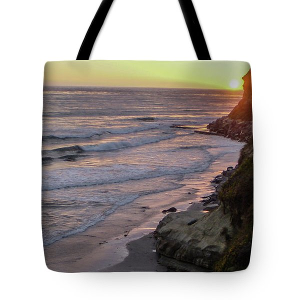Swamis Sunset Tote Bag by Mark Barclay