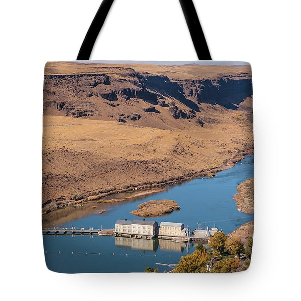 Tote Bag featuring the photograph Swan Falls Dam by Mark Mille