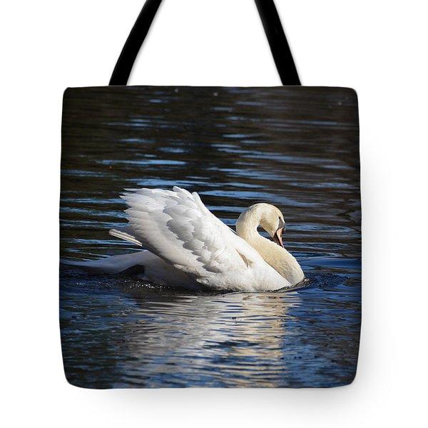 Swan Tote Bag by Linda Brown