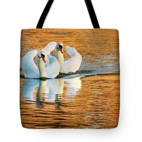 Swimming On Gold Tote Bag