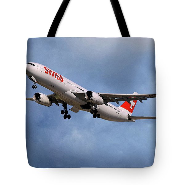 Swiss Airbus A330-343 Tote Bag