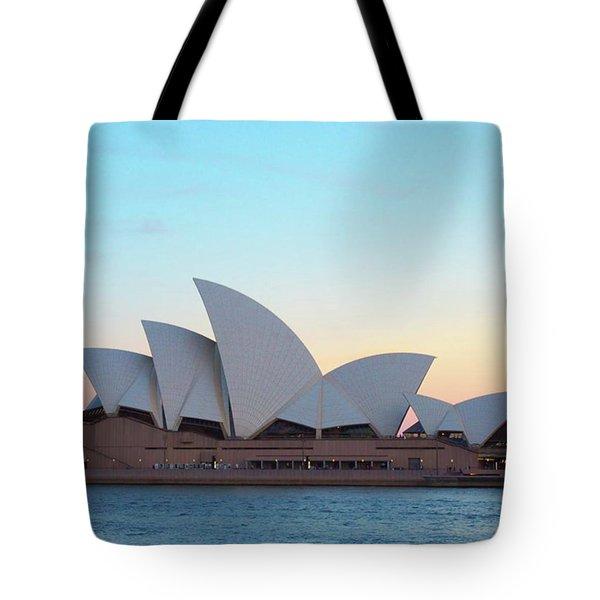 Sydney Opera House At Dusk Tote Bag by Sugar N