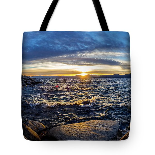 Tahoe Sunset Tote Bag