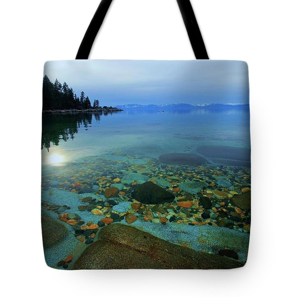 Tote Bag featuring the photograph Tahoe Twilight by Sean Sarsfield