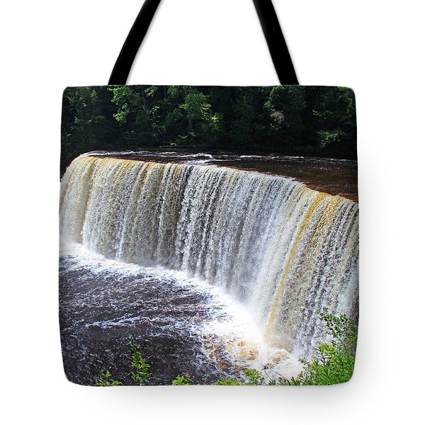 Tahquamenon Upper Falls IIi Tote Bag by Michiale Schneider