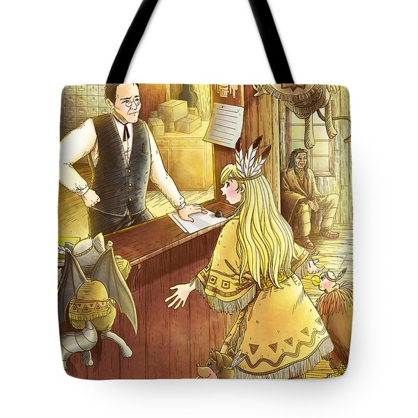 Tammy And The Postmaster Tote Bag by Reynold Jay